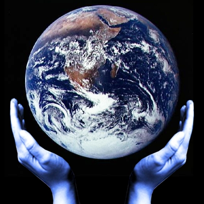 Global Praying Hands and Earth 2009 logo